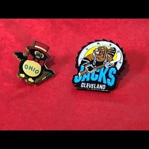 Cleveland pin Ohio pin penguin lumber jacks lapel